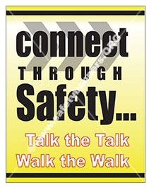 Vertical, Connect Through Safety, Slogan Banners and Posters, Choose from 4 sizes plus 6 different size posters