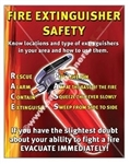 Vertical, Fire Extinguisher Safety Banners and Posters, Choose from 4 sizes plus 6 different size posters