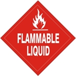 FLAMMABLE LIQUID Subsidiary Risk Labels - 4 X 4 - (10/PK) - Self Adhesive Vinyl
