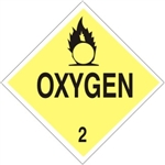 OXYGEN CLASS 2 Shipping Label 4 X 4 – Choose a  Package of 10 Vinyl or Rolls of 500 Vinyl labels