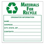 THIS CONTAINER HAZARDOUS WHEN EMPTY Label 6 X 6 - Choose Package of 10 Pressure Sensitive Vinyl Labels