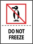 Do Not Freeze International Shipping Labels, 4 X 3 Pressure sensitive paper labels 500/roll