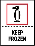 Keep Frozen - International Shipping Labels, 4 X 4 Pressure sensitive paper labels 500/roll