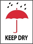 Keep Dry - International Shipping Labels, 4 X 4 Pressure sensitive paper labels 500/roll