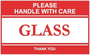 Please Handle With Care Glass Shipping Labels
