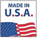 Made in USA, 4 X 4 Pressure sensitive paper labels 500/roll