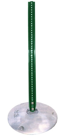 15 inch ALUMINUM STANCHION Sign Post Base
