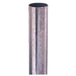 PIPE POST 12 FOOT - Steel galvanized 2-3/8 in. diameter sign post, Silver, Galvanized durable rust free finish.