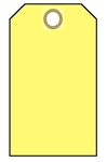 BLANK YELLOW Tags - Available in Cardstock or Vinyl