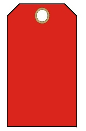 BLANK RED, Tags - Available in Card Stock and Vinyl
