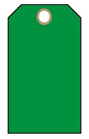 Blank Green Tag 100 Pk With Fasteners