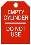 "EMPTY CYLINDER DO NOT USE - Accident Prevention Tags - 6-1/8"" X 3"""