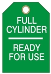 "FULL CYLINDER READY FOR USE - Accident Prevention Tags - 6-1/8"" X 3"""
