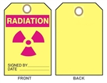 "Accident Prevention RADIATION Tag - 6-1/8"" X 3"""