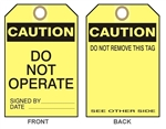 "CAUTION DO NOT OPERATE - Accident Prevention Tag - 6-1/8"" X 3"""