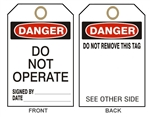 "DANGER DO NOT OPERATE Accident Prevention Tags - 6-1/8"" X 3"""