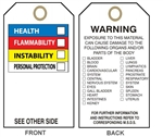 RIGHT TO KNOW - Color Bar Accident Prevention Tags