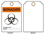 "BIOHAZARD TAG - Accident Prevention Tags - 6-1/8"" X 3"""