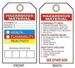 HAZARDOUS MATERIAL - HMCIS Accident Prevention Tags