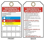 BILINGUAL HAZARDOUS MATERIAL - HMCIS - Accident Prevention Tags