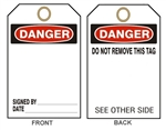 "BLANK DANGER Accident Prevention Tags - 6-1/8"" X 3"""