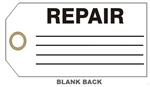 "REPAIR STATUS Tags - 6"" X 3"" Available in Card Stock or Rigid Vinyl"