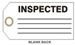 "INSPECTED PRODUCTION STATUS Tag - 6"" X 3"" Available in Card Stock or Rigid Vinyl"