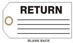 "RETURN GOODS VENDOR STATUS Tag - 6"" X 3"" Available in Card Stock or Rigid Vinyl"