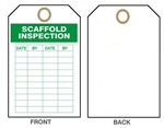 "SCAFFOLD SAFETY INSPECTION RECORD Tag - 6"" X 3"" Choose from Card Stock or Rigid Vinyl"
