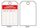 "LADDER INSPECTION TAG - 6"" X 3"" Choose from Card Stock or Rigid Vinyl"