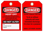 Danger Do Not Use This Scaffold Keep Off - OSHA Scaffolding Inspection Status Tags - Choose from Card Stock or Rigid Vinyl