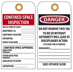 CONFINED SPACE ENTRY PERMIT - Accident Prevention Tags