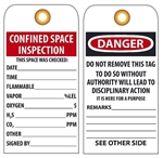 Accident Prevention, CONFINED SPACE INSPECTION, Tags