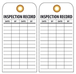 INSPECTION RECORD TAG- Vinyl or Card Stock Accident Prevention Tags
