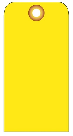 BLANK YELLOW - Vinyl or Card Stock Tags