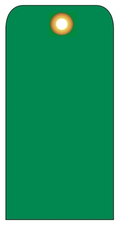 BLANK GREEN - Vinyl or CardStock Accident Prevention Tags
