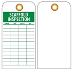 SCAFFOLD INSPECTION RECORD - Vinyl or Card Stock Tags