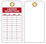 LADDER INSPECTION RECORD TAG - Vinyl or Card Stock Accident Prevention Tags