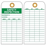 SAFETY INSPECTION EQUIPMENT ID - Vinyl or CardStock Tags