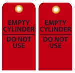 EMPTY CYLINDER - DO NOT USE - Vinyl or Card Stock Accident Prevention Tags
