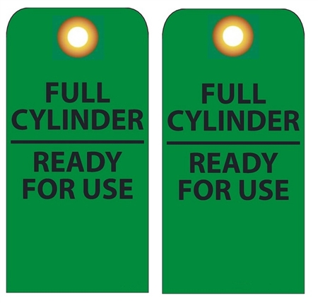FULL CYLINDER READY FOR USE - Vinyl or Card Stock Accident Prevention Tags