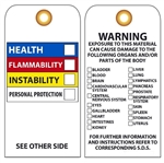 CHEMICAL HAZARD TAG - Vinyl and CardStock Accident Prevention Tags