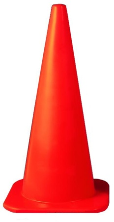 36 inch Traffic Cone, Florescent Orange 15-1/2 inch square base 10 pounds