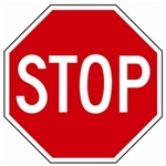 "30"" STOP SIGN - Choose from Engineer Grade, High Intensity or Diamond Grade Reflective."