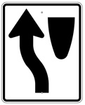 KEEP LEFT Symbol arrow Left SIGN -  30 X 24 Engineer Grade, High Intensity and Diamond Grade Reflective Aluminum.