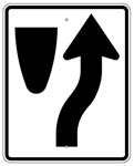 KEEP RIGHT arrow right SIGN - 30 X 24 Engineer Grade, High Intensity and Diamond Grade Reflective Aluminum.