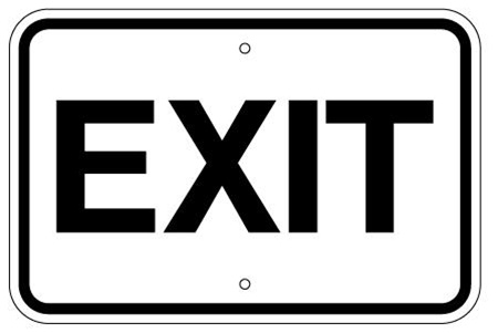 EXIT TRAFFIC Sign  12 X 18 - Type I Engineer Grade Prismatic Reflective Aluminum