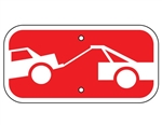 Supplemental Tow Away Zone Sign - 6 X 12, Choose from Engineer Grade or High Intensity Reflective Aluminum