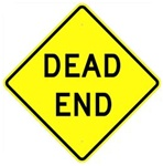 DEAD END Street Sign - Choose 24 X 24 - 30 X 30 or 36 X 36  Engineer Grade, High Intensity or Diamond Grade Reflective Aluminum