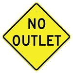 "NO OUTLET Traffic Sign - Choose 24"" X 24"", 30"" X 30"" or 36"" X 36"" Engineer Grade, High Intensity or Diamond Grade Reflective Aluminum"